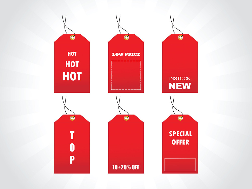 Tags For New Stock In Red