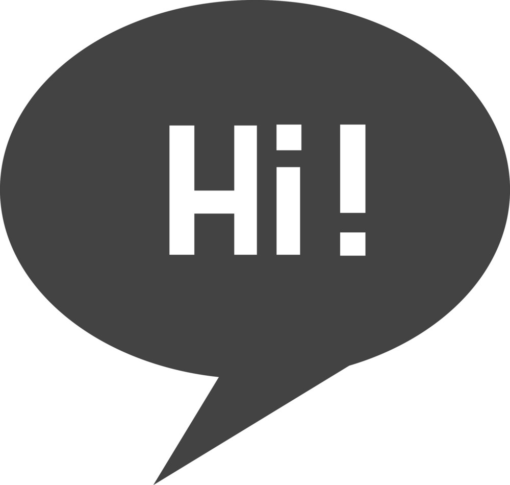 Talk Hi Glyph Icon