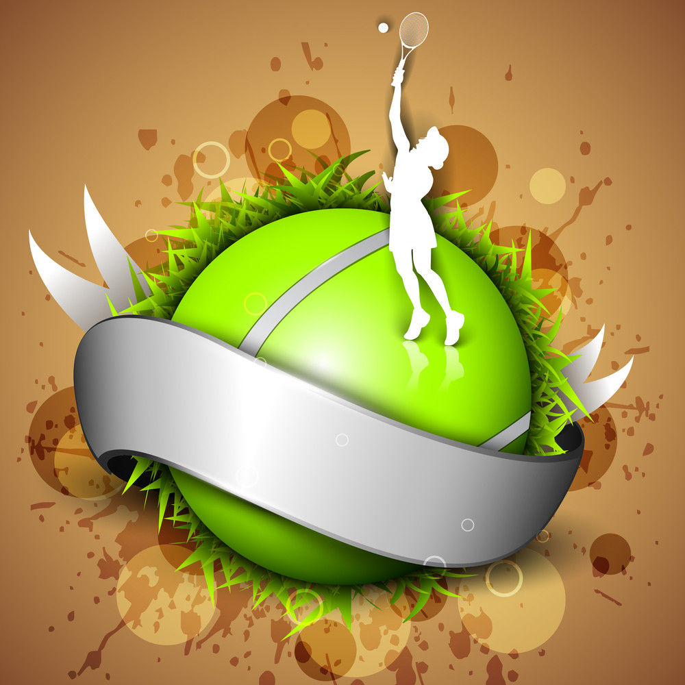 Tannis Ball  Icon Or Element With A Shiny Grey Ribbon