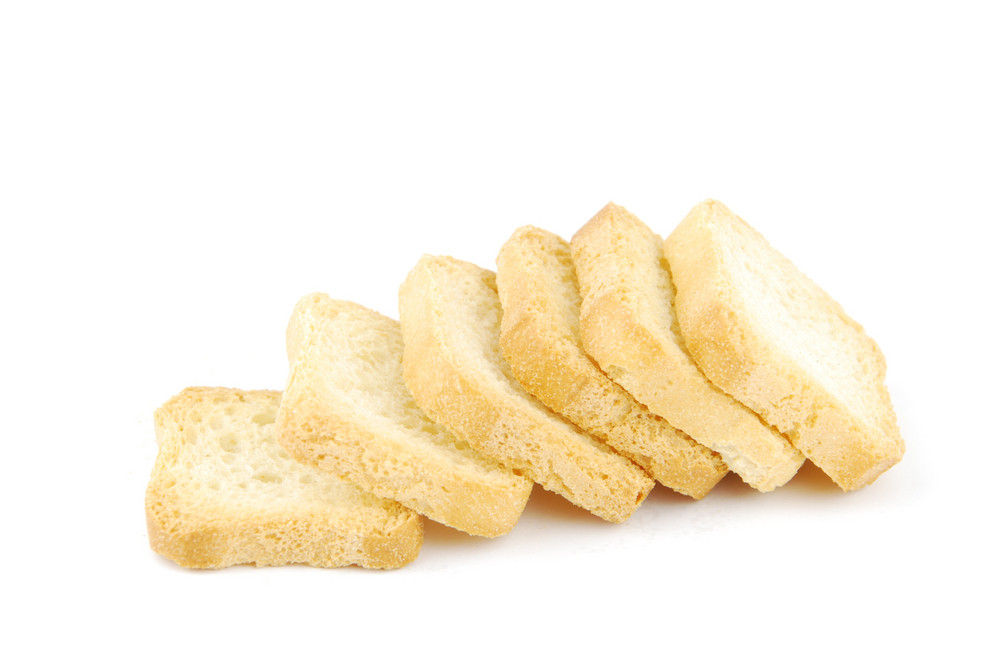 Tasty Crackers On White