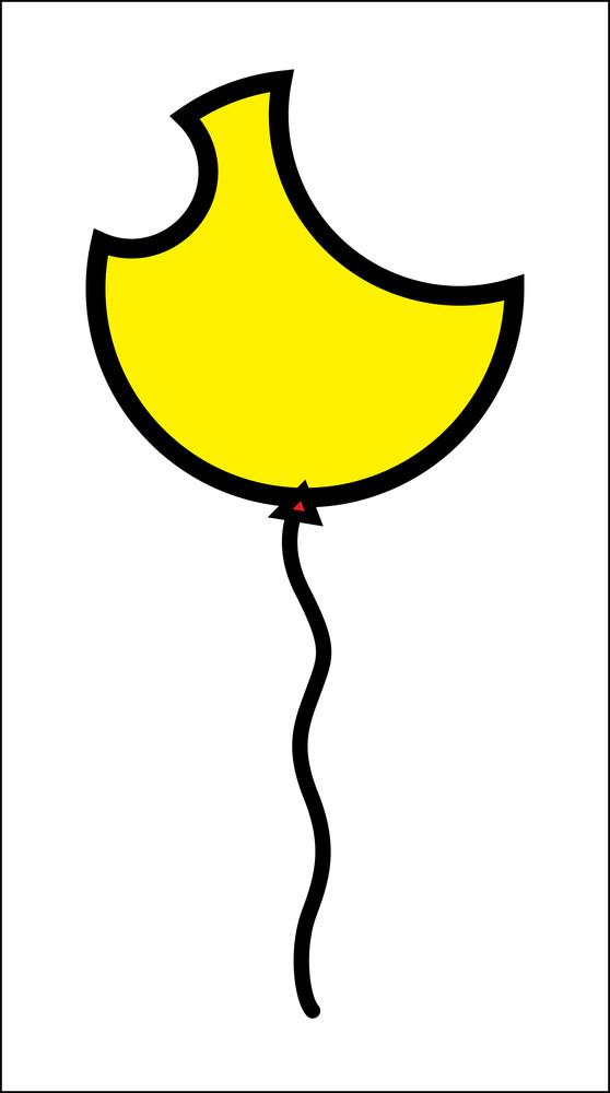 Tattered Balloon Shape