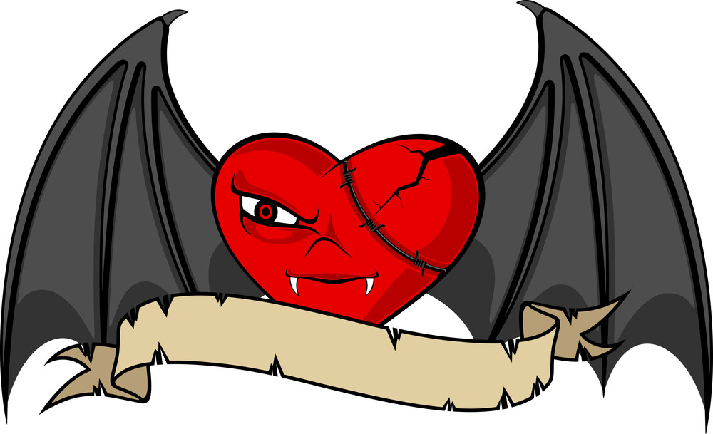 Tatto Heart With Wings.