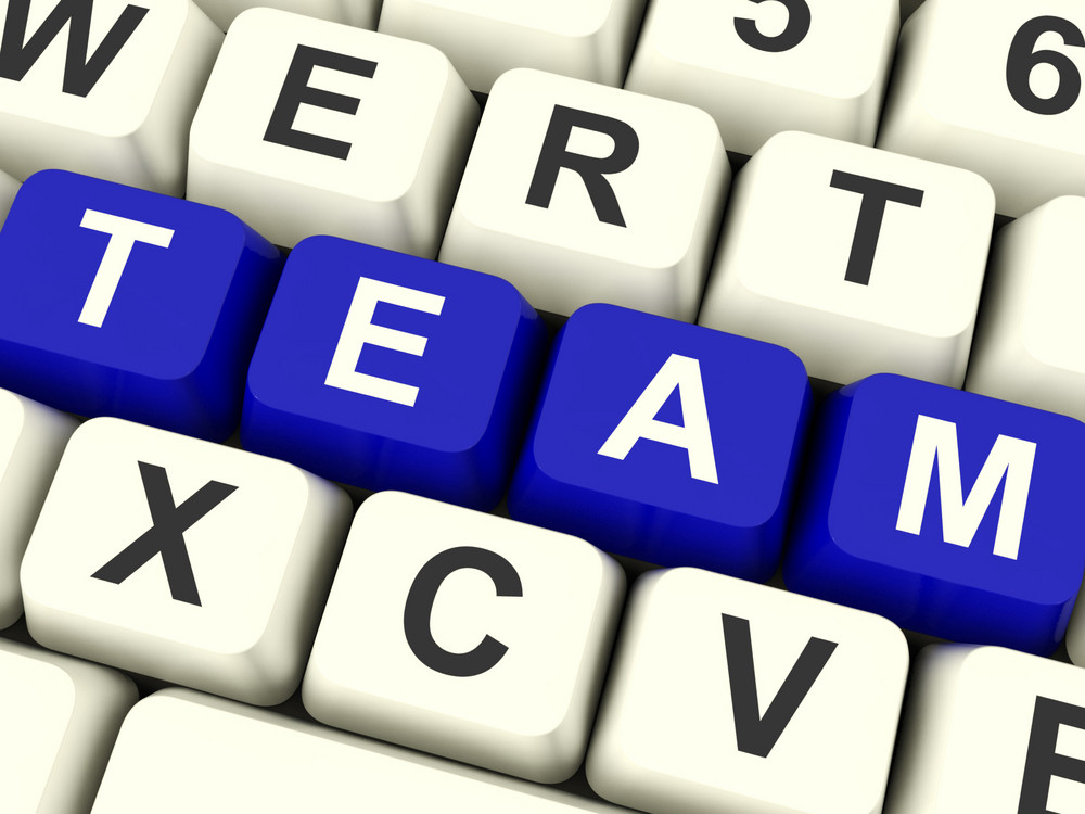 Team Word As Symbol For Teamwork And Partenership