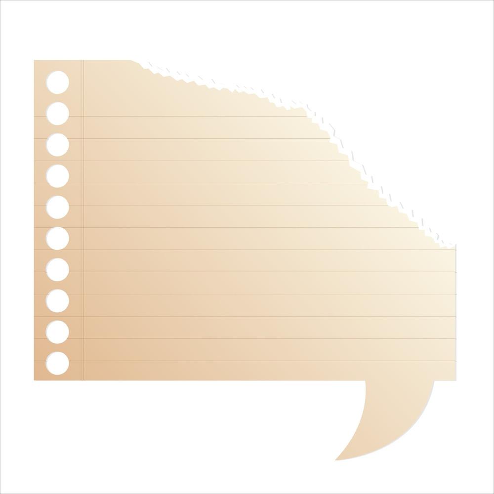 Tear Paper Speech Bubble