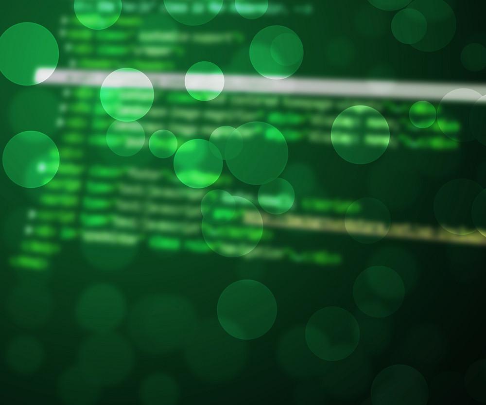 Tech Abstract Bokeh Green Background