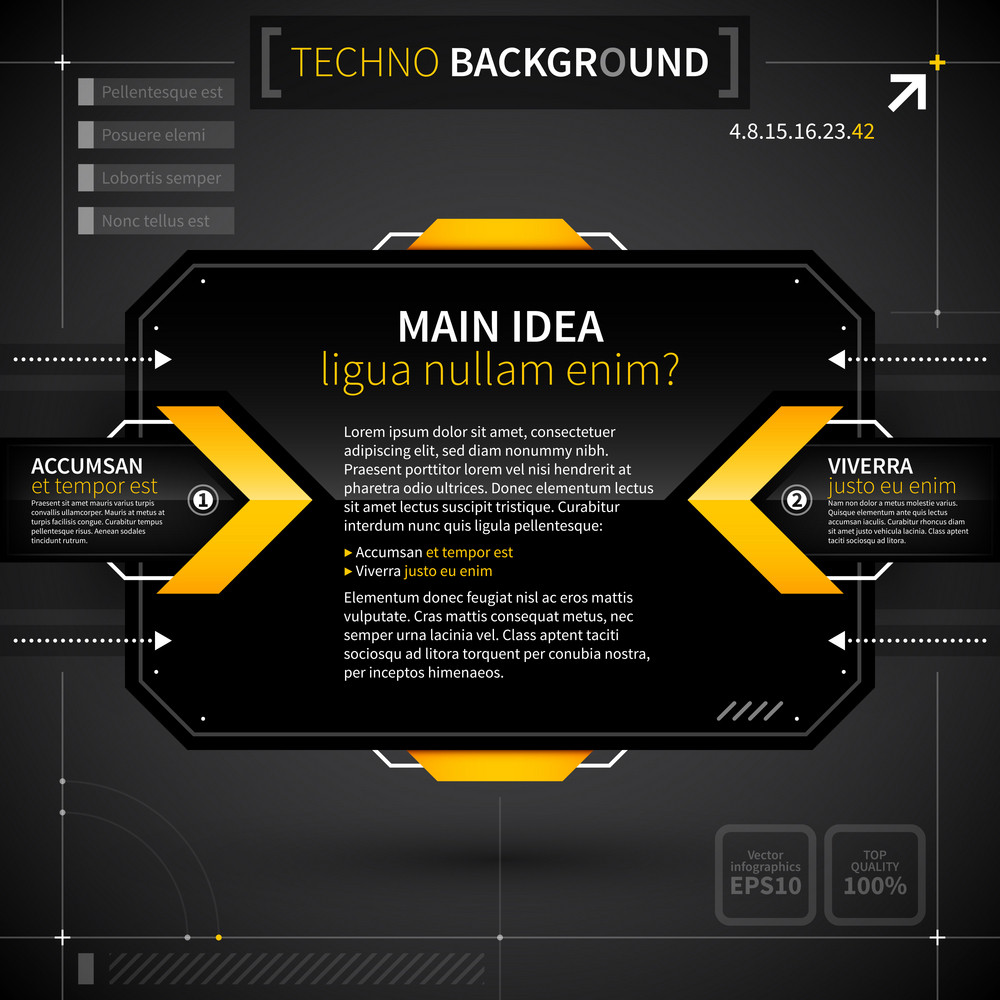Modern Techno Background With Main Idea And Two Options.