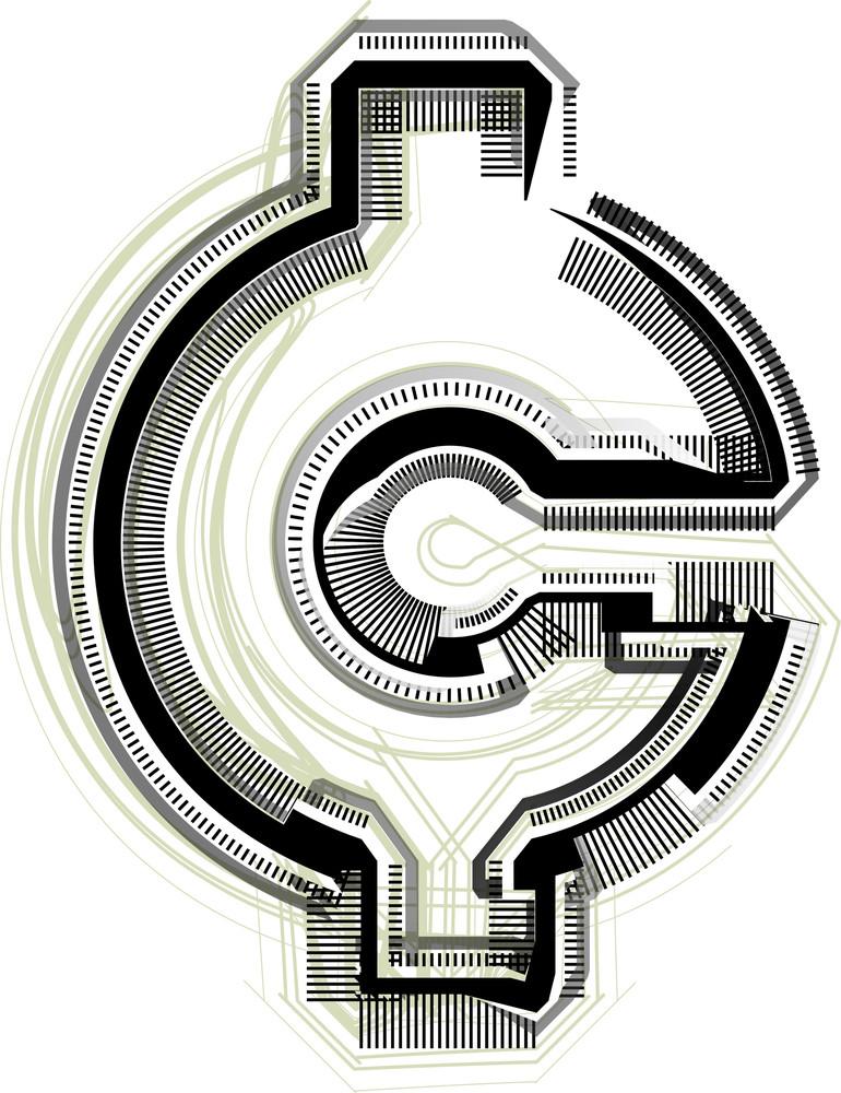 Technological Font Cent Symbol