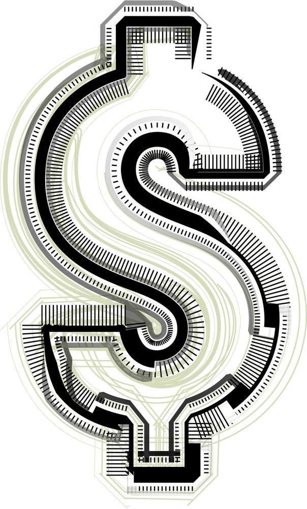 Technological Font Dollar Symbol