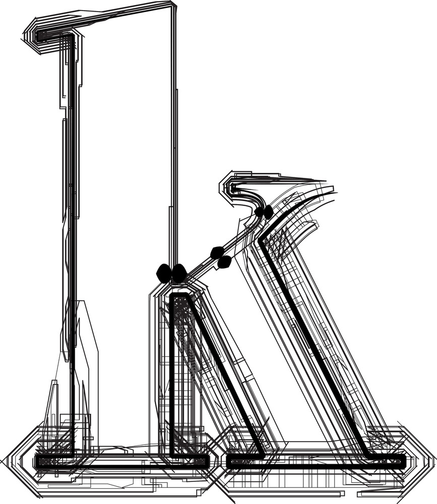Technological Font. Letter K