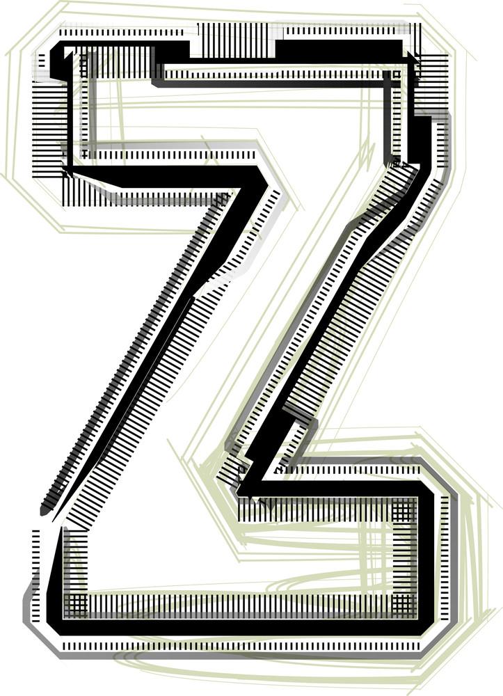 Technological Font. Letter Z