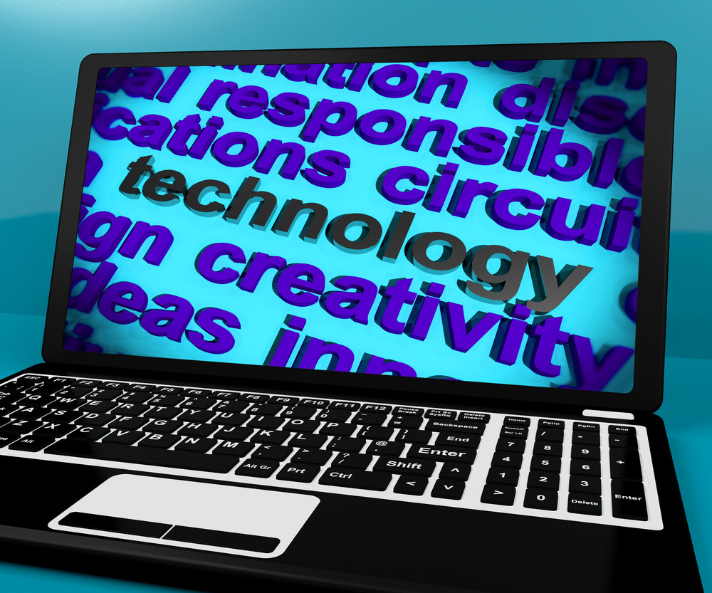 Technology Word On Laptop Meaning Software And Hi Tech