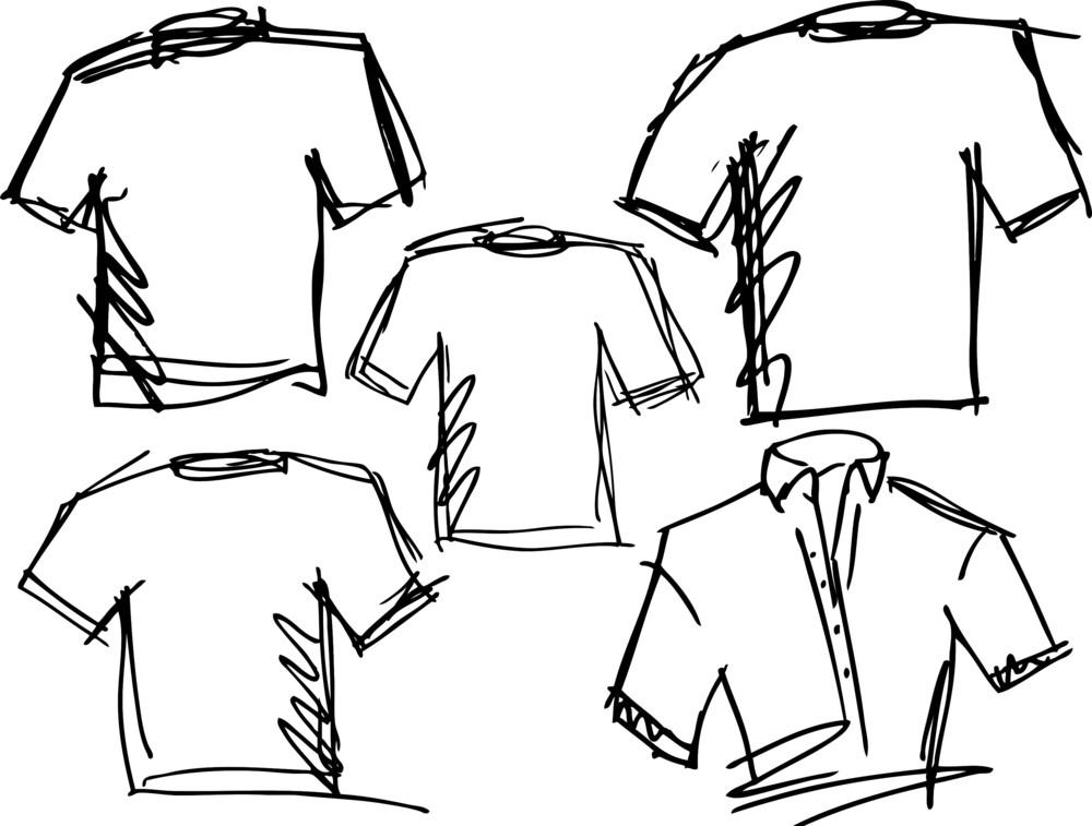 Tee Sketch. Vector Illustration