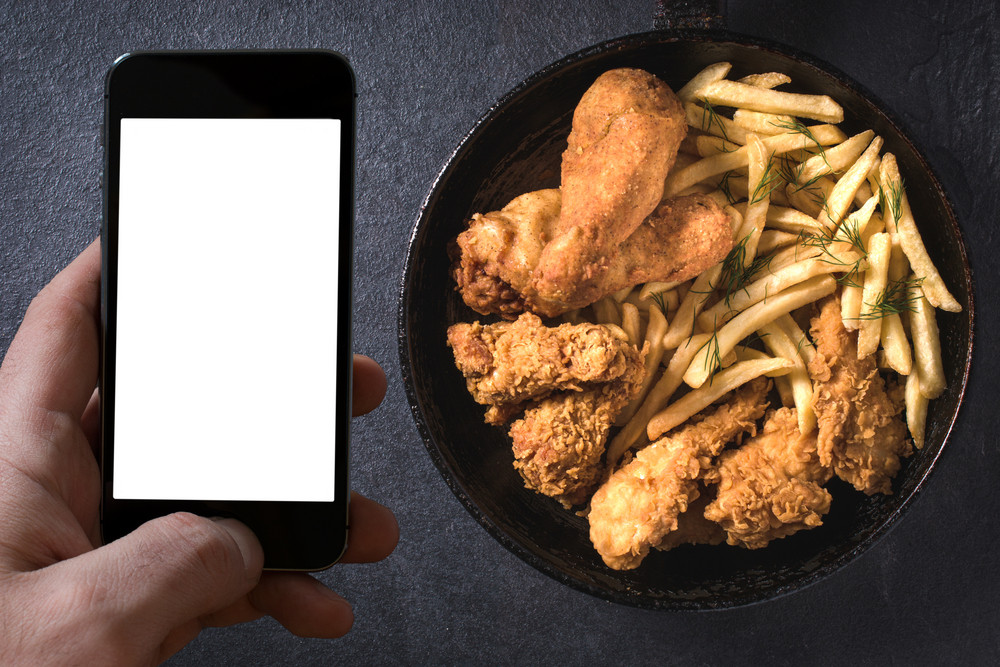 Phone And Fried Food