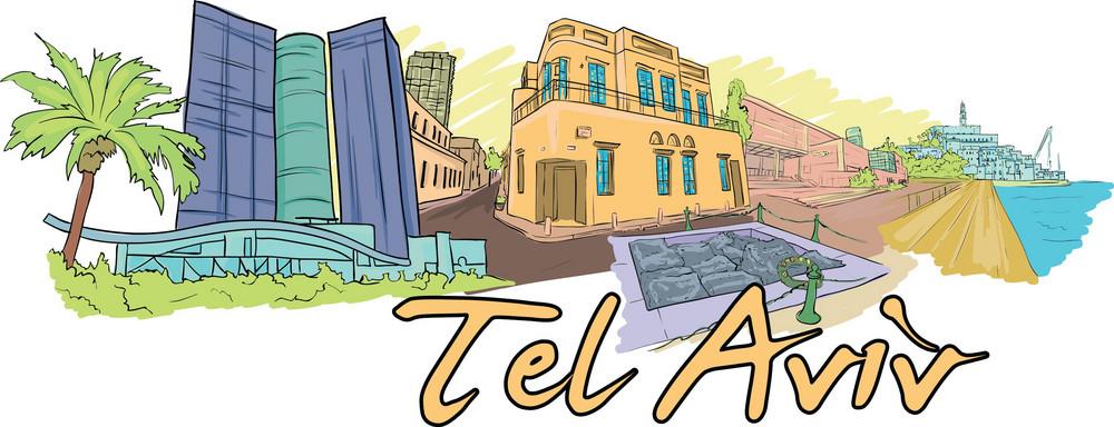 Tel Aviv Vector Doodle