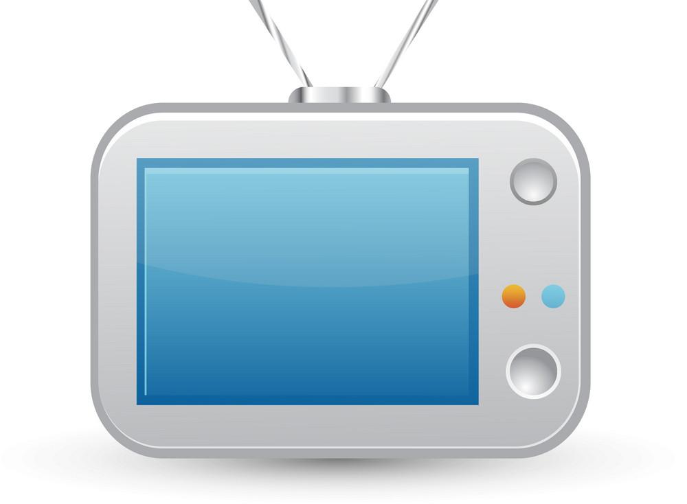 Television Blue Lite Media Icon
