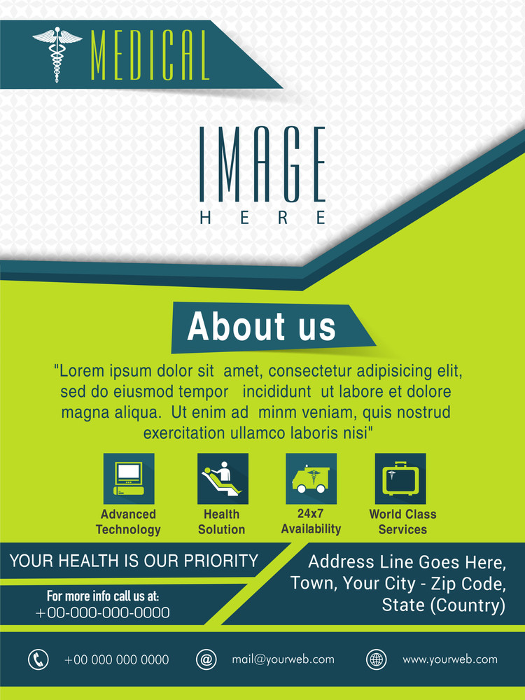 Template Brochure or Flyer presentation for Health and Medical concept.