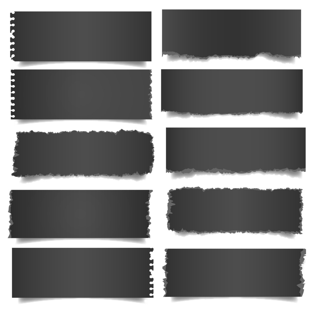 Ten Black Notes Paper