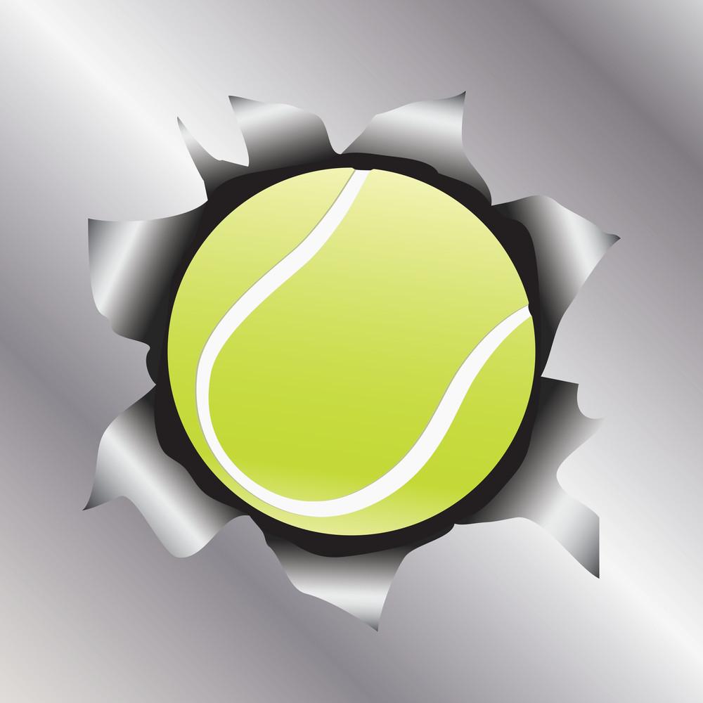 Tennis Thru Metal Sheet