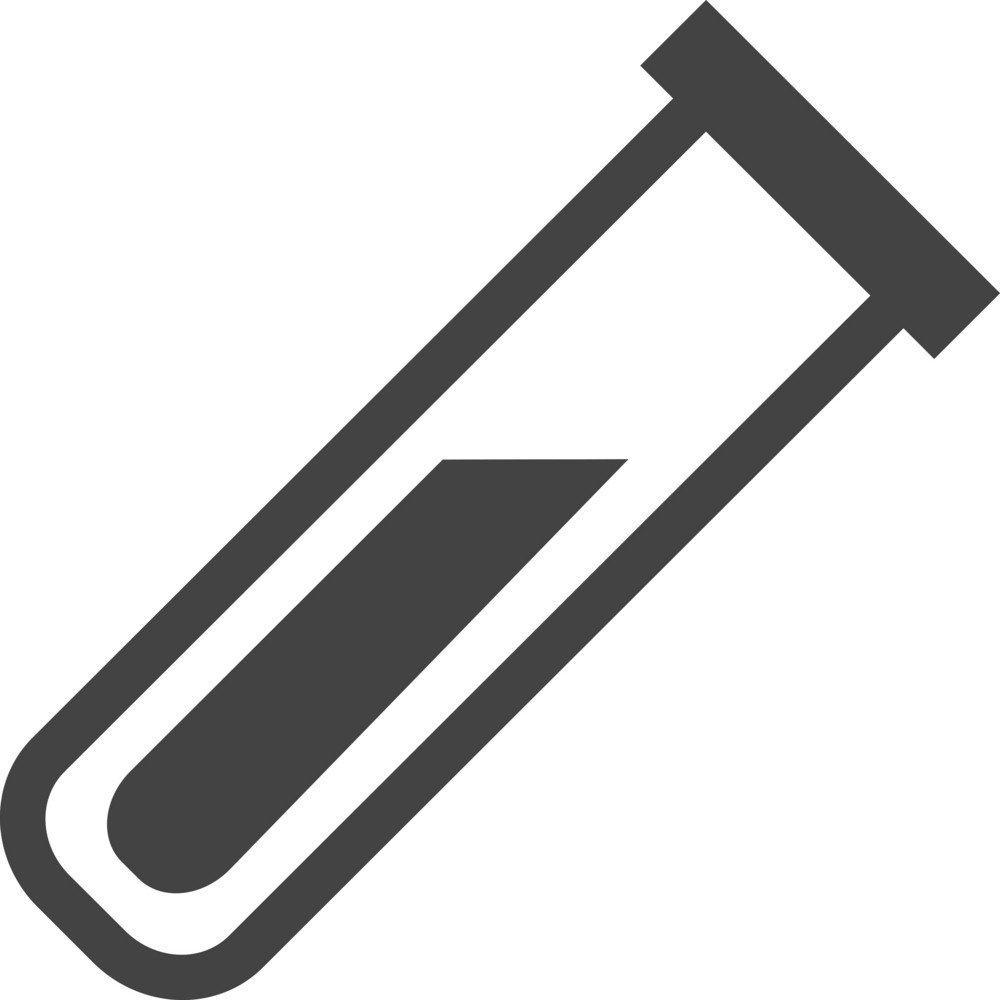 Test Tube Glyph Icon