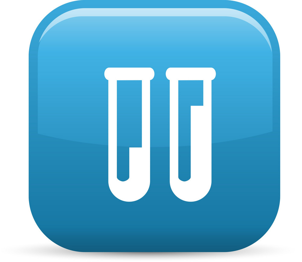 Test Tubes Elements Glossy Icon
