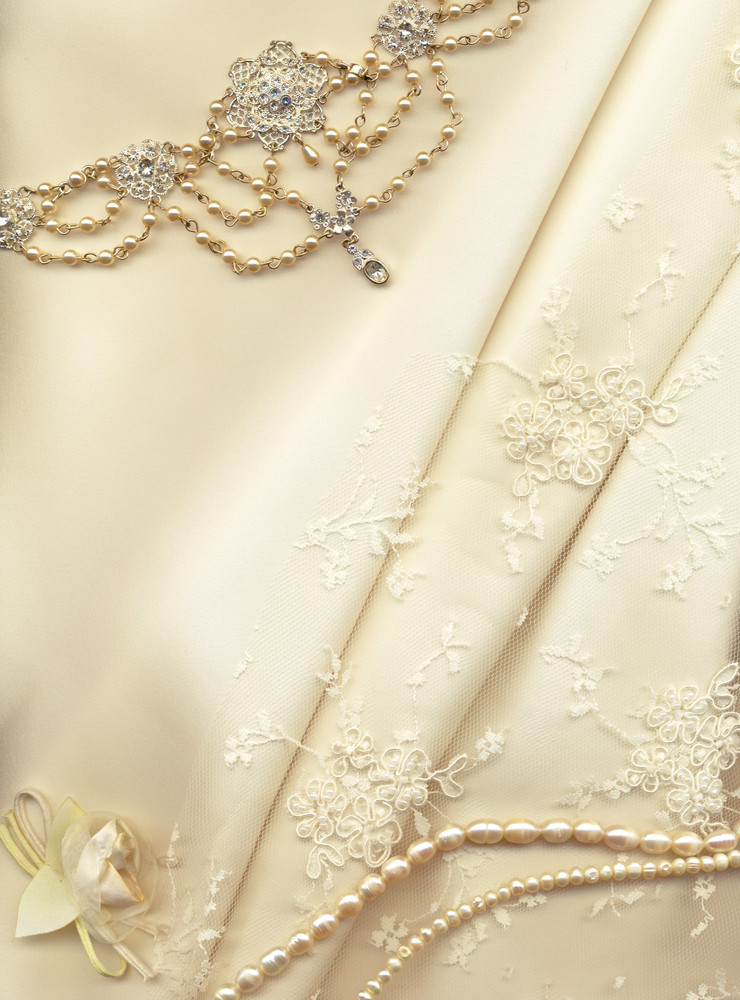 Textile Wedding Background With Plenty Of Copy Space