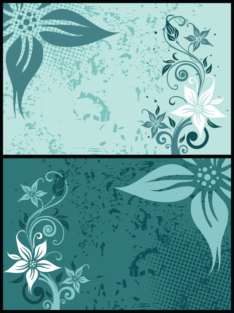 Textue Background With Floral Pattern