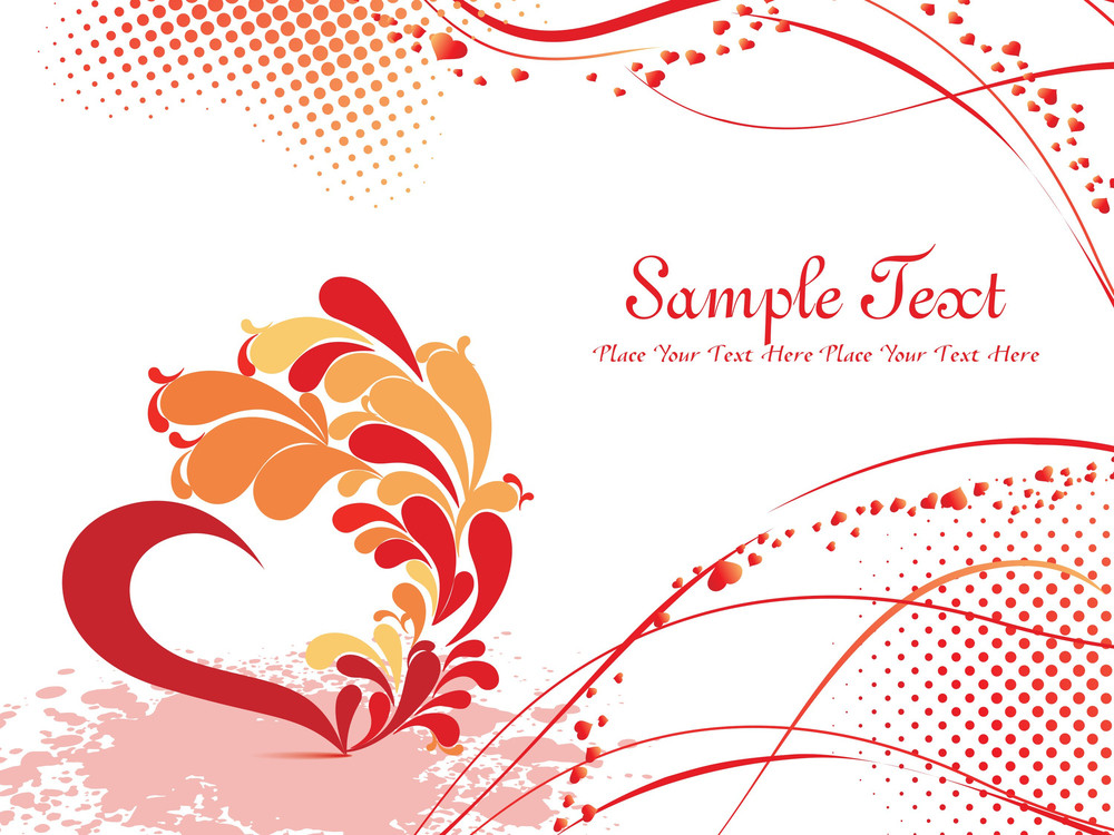Texture Background With Artistic Heart