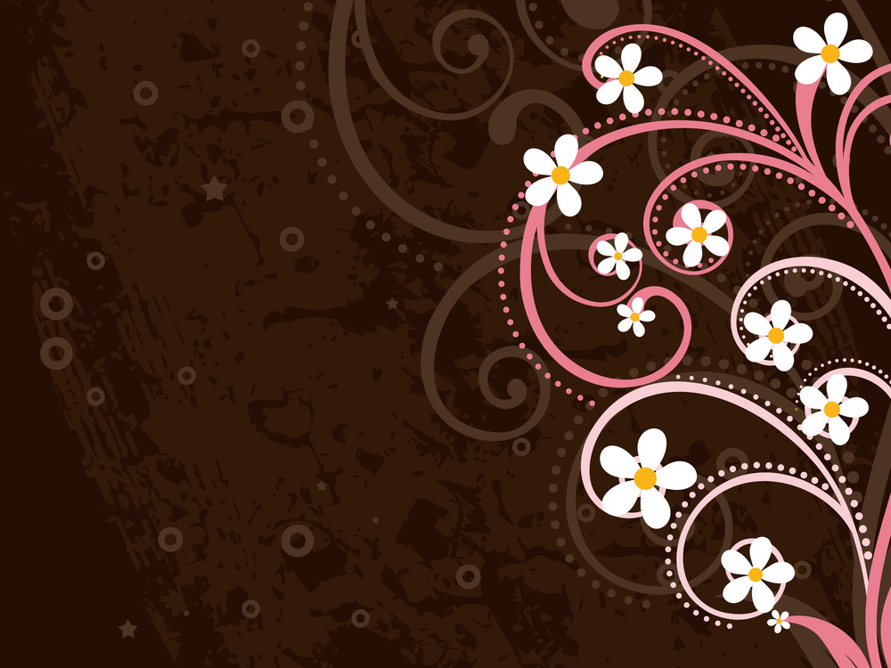 Texture Background With Beautiful Blossom