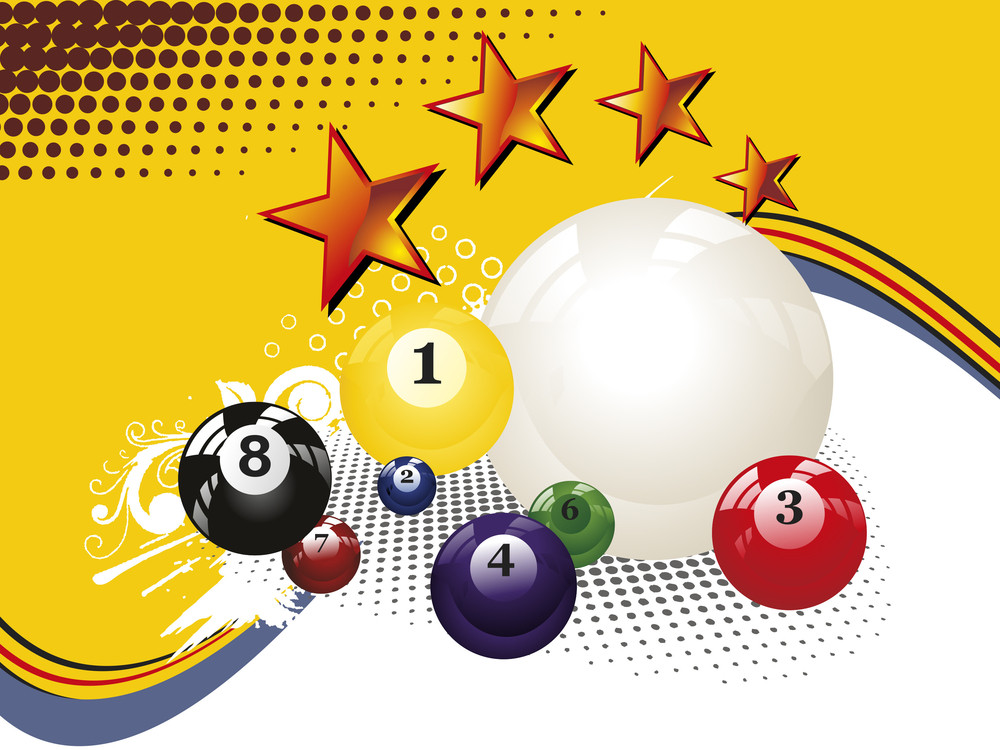 Texture Background With Colorful Billiard Balls