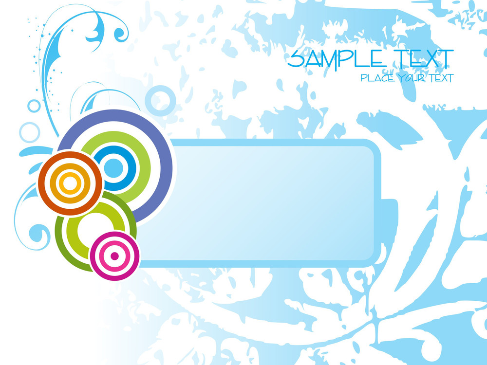 Texture Background With Colorful Circle