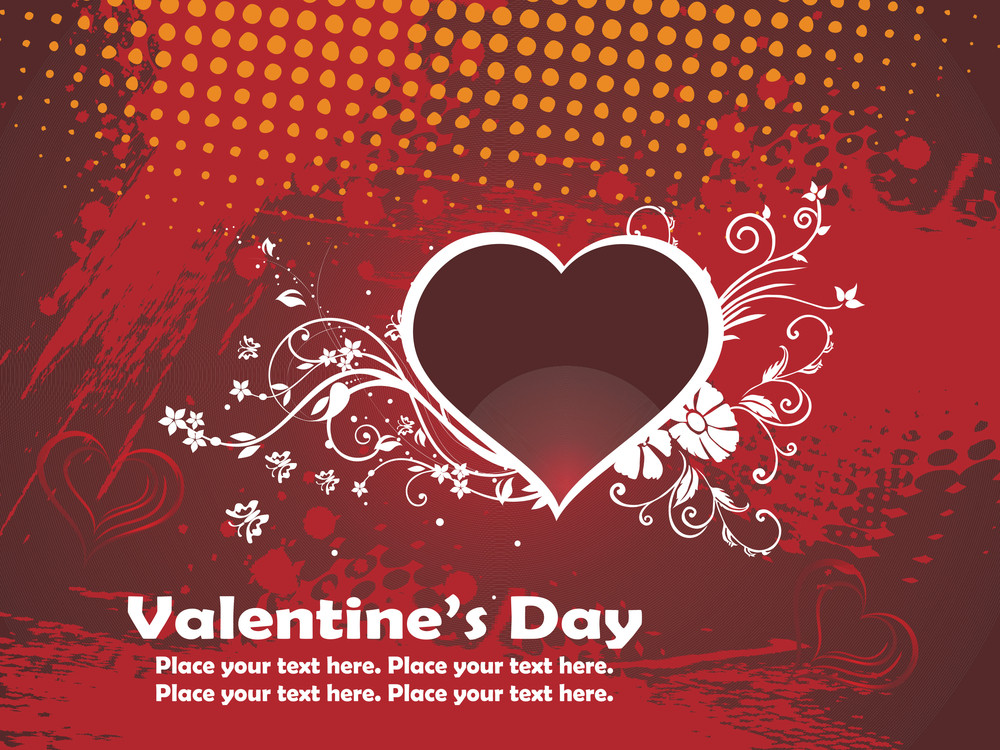 Texture Background With Decorated Heart