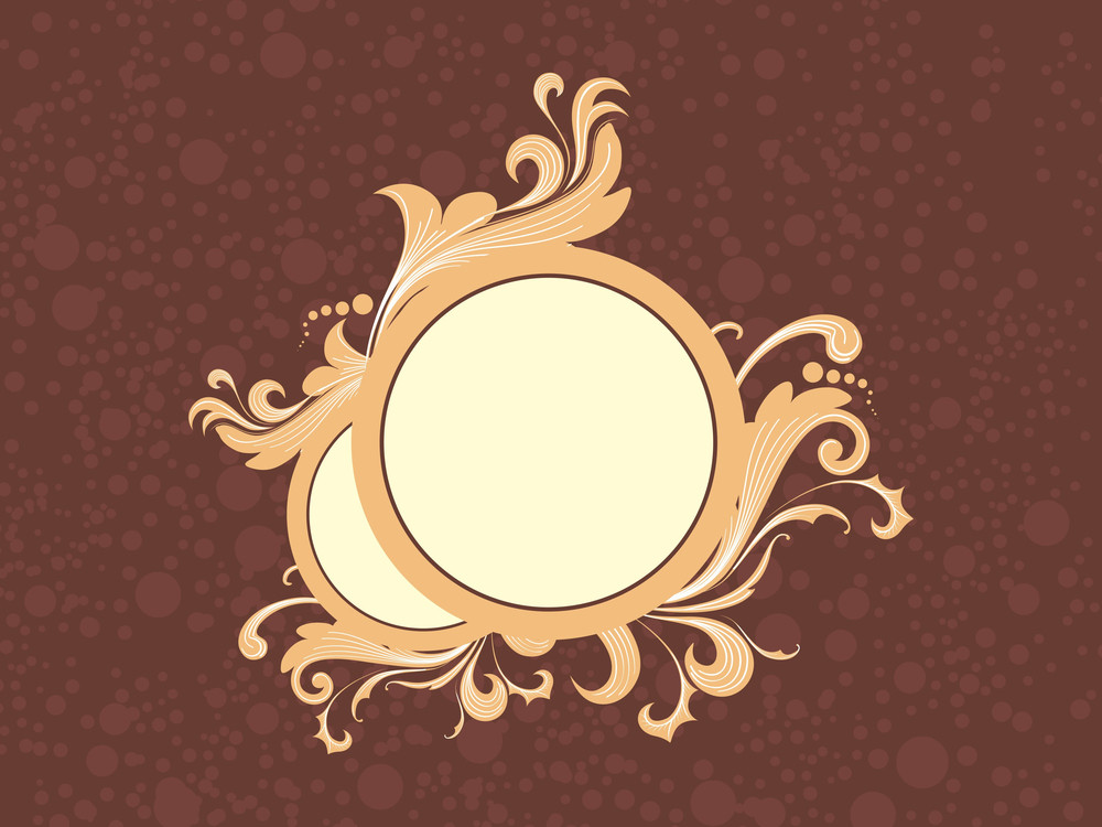 Texture Background With Floral Frame