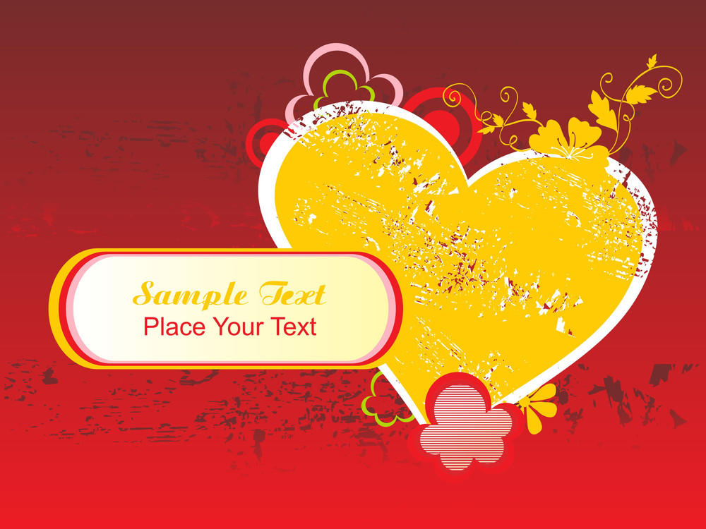 Texture Background With Floral Pattern Heart