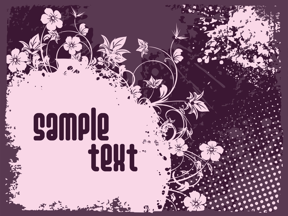 Texture Background With Floral
