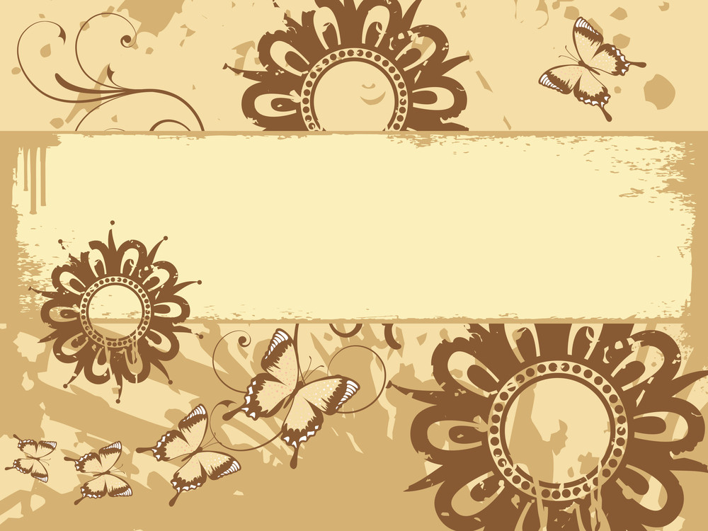 Texture Background With Flower