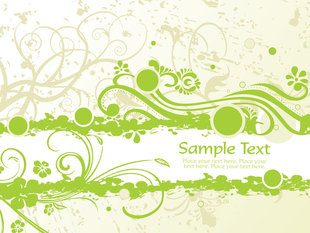 Texture Background With Green Swirls Design