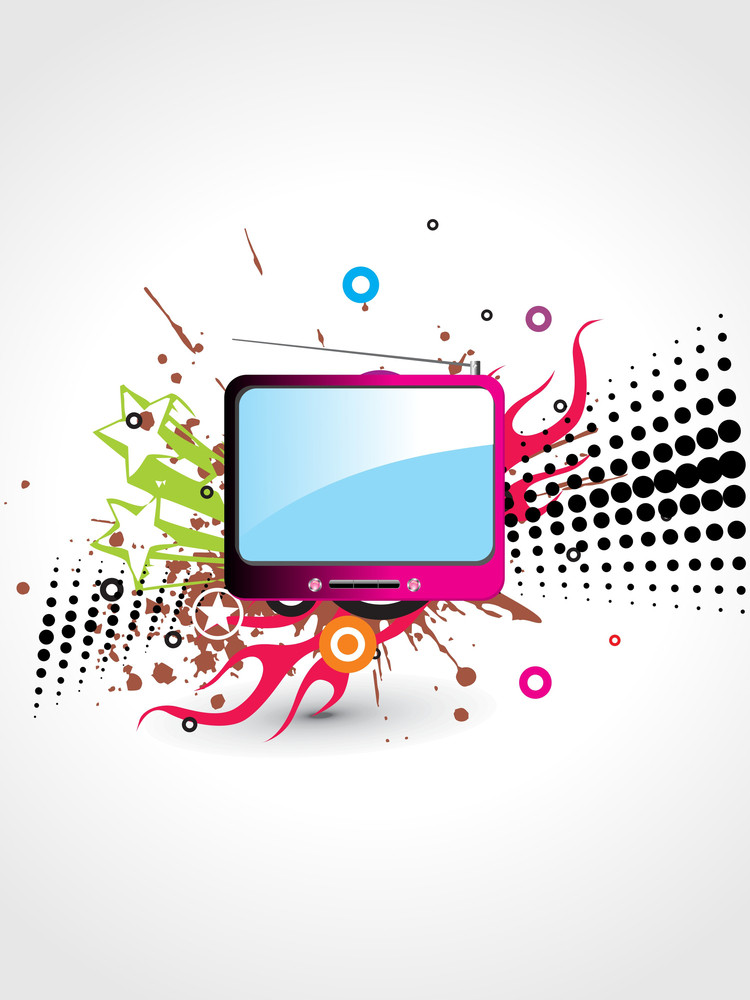 Texture Background With Isolated T.v