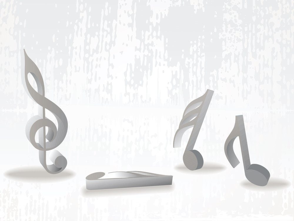 Texture Background With Musical Notes