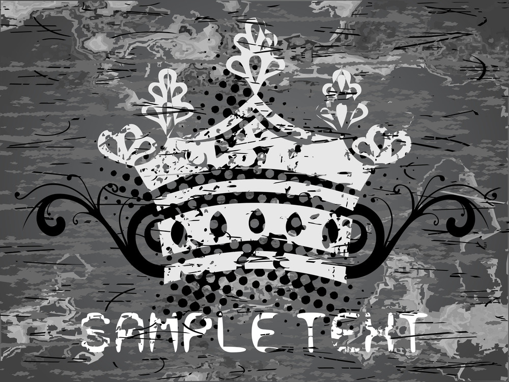 Texture Background With Retro Crown