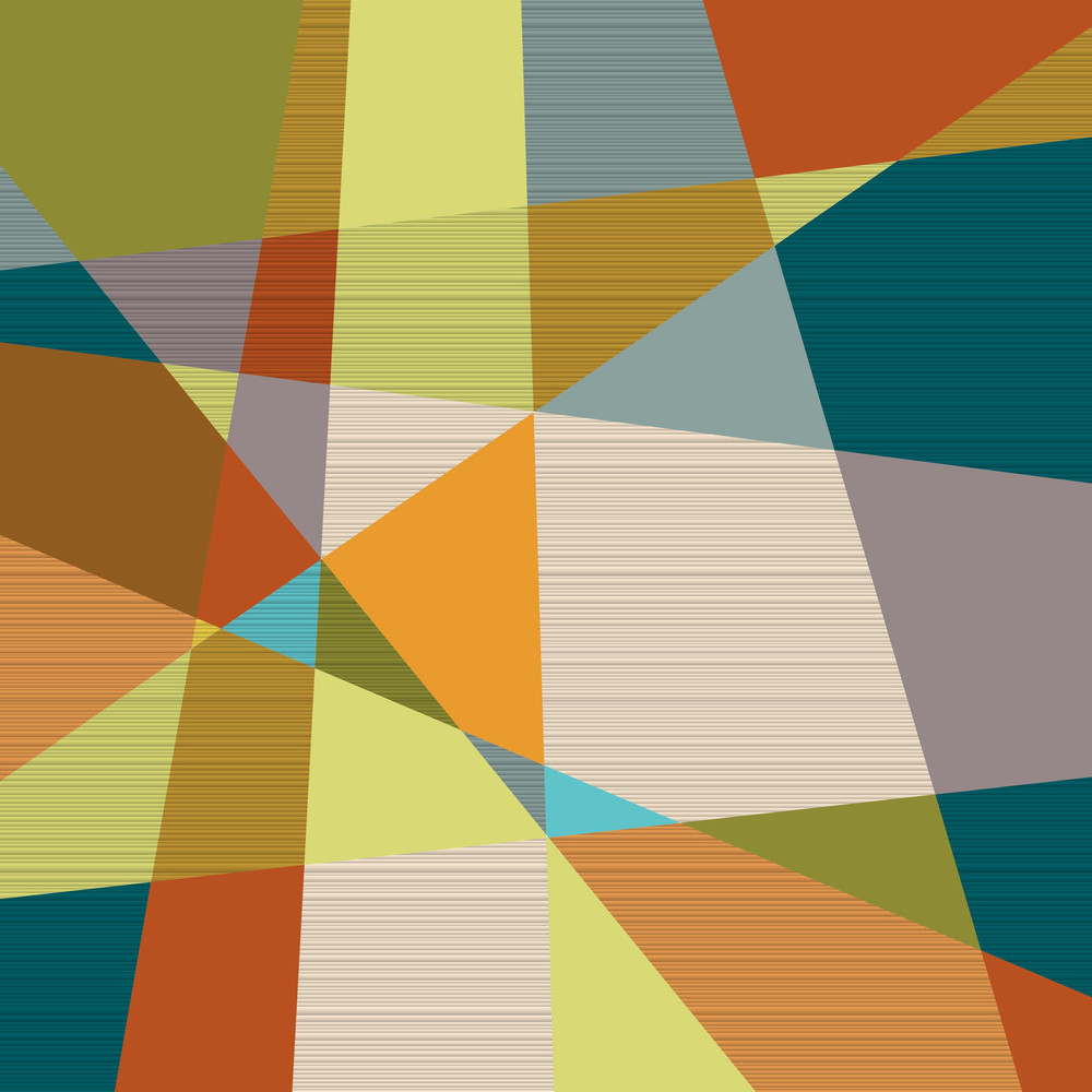 Textured Retro Geometric Background