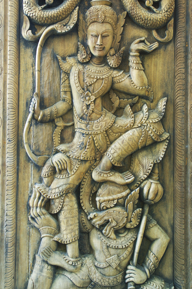 Thailand Carving wood craft