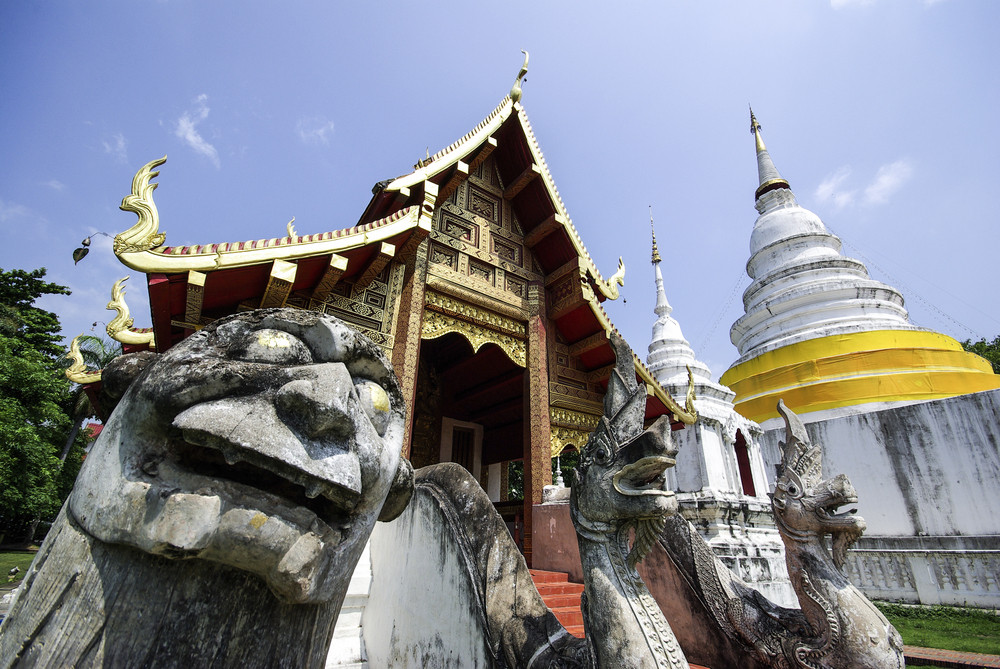 Thailand, Chiang Mai, Phra Thart doi suthep temple (Wat Phra Thart Doi Suthep)