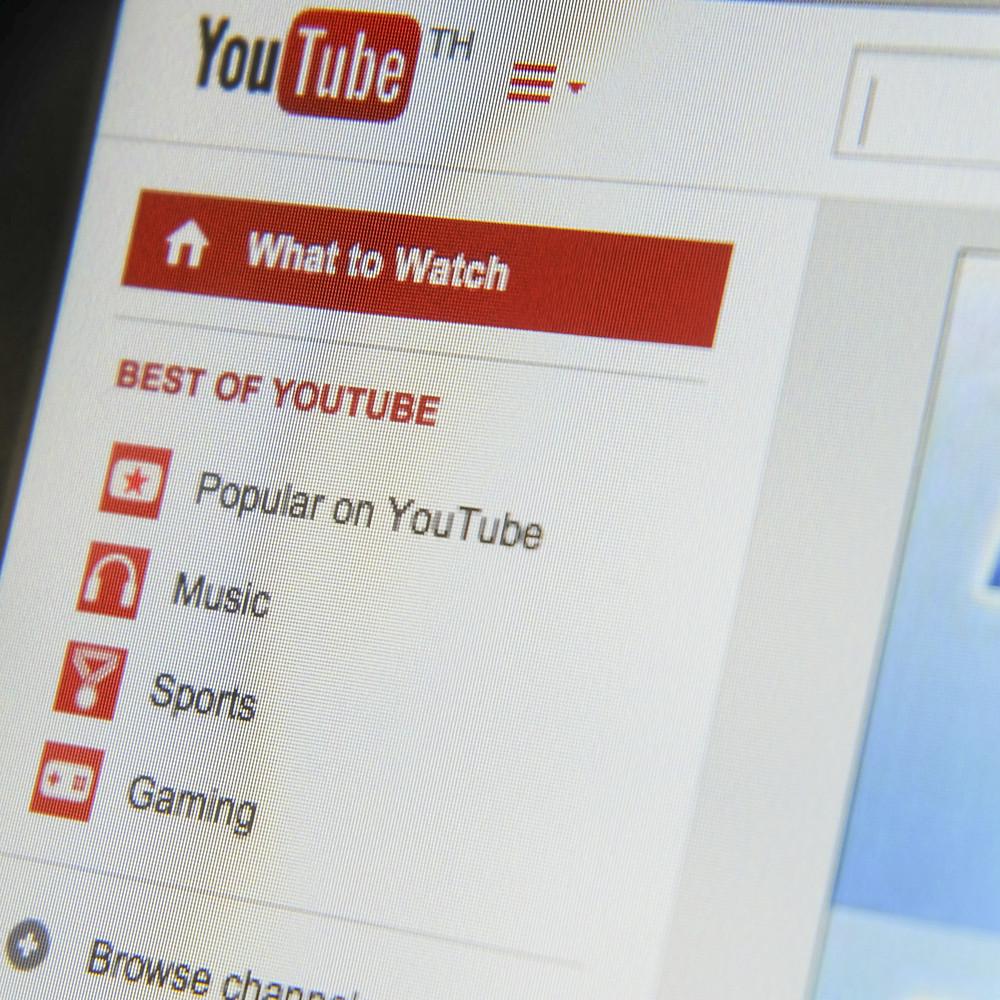 THAILAND - SEPTEMBER 2, 2014: Youtube menu bar webpage view on web browser.