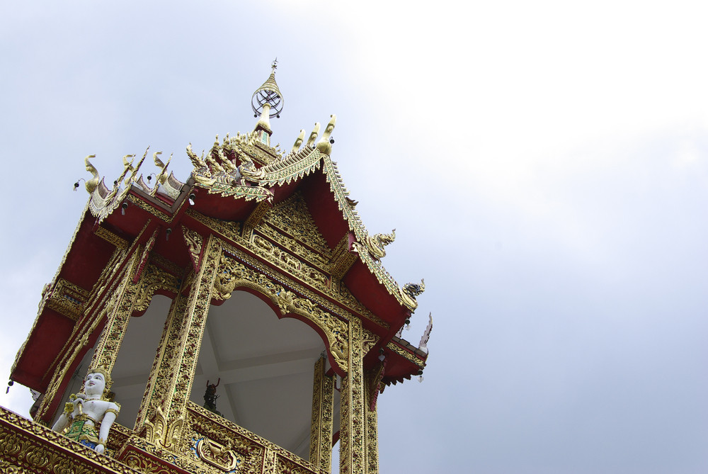Thailand temple on cloud