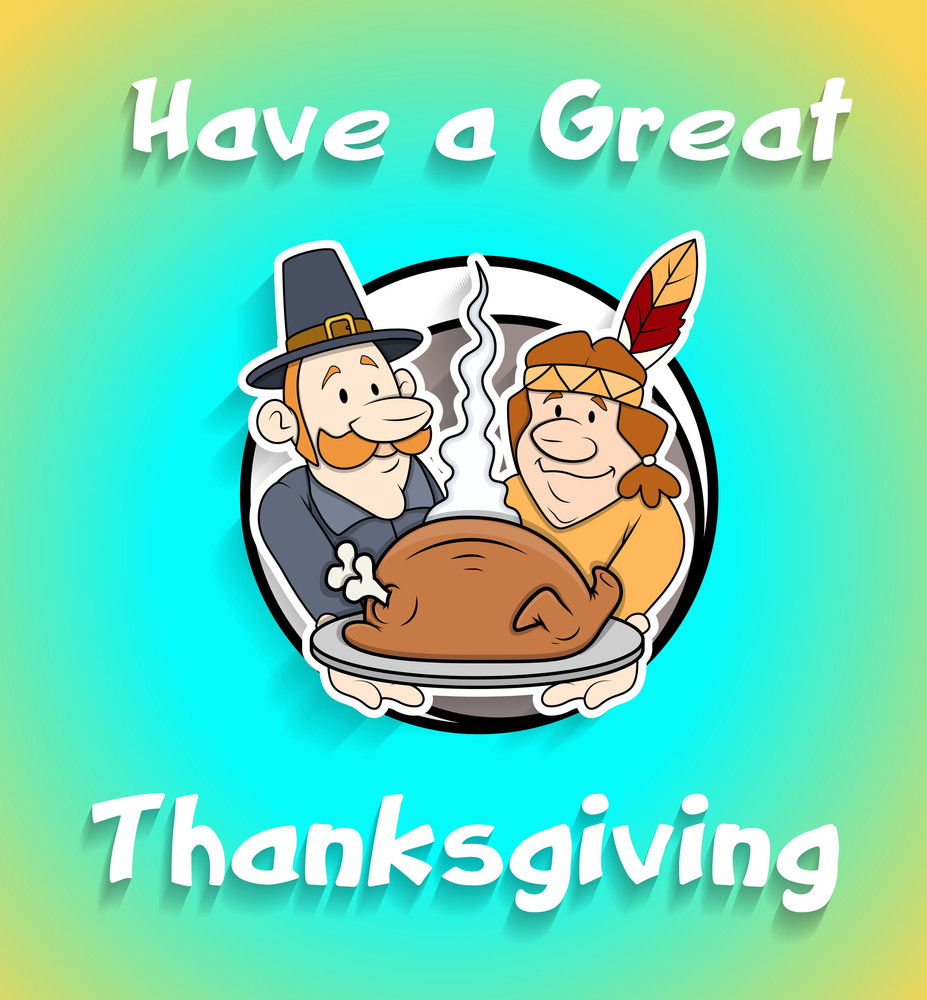 Thanksgiving Day Cartoon Graphic Vector