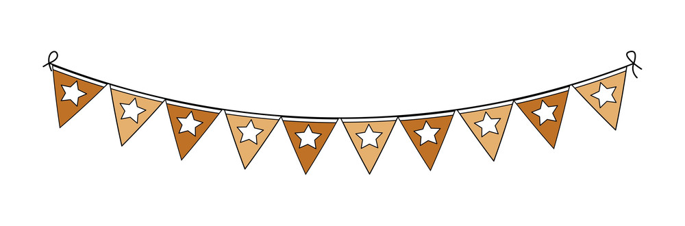 Thanksgiving Day Paper Flags Vector