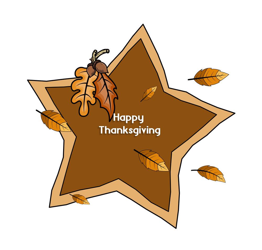 Thanksgiving Day Retro Star Banner