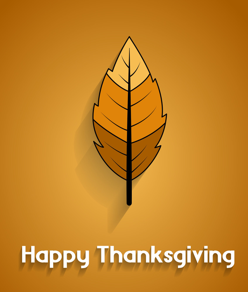 Thanksgiving Day Vector Leaf Greeting