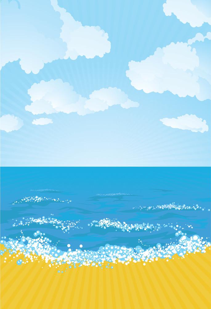 The Beach. Vector