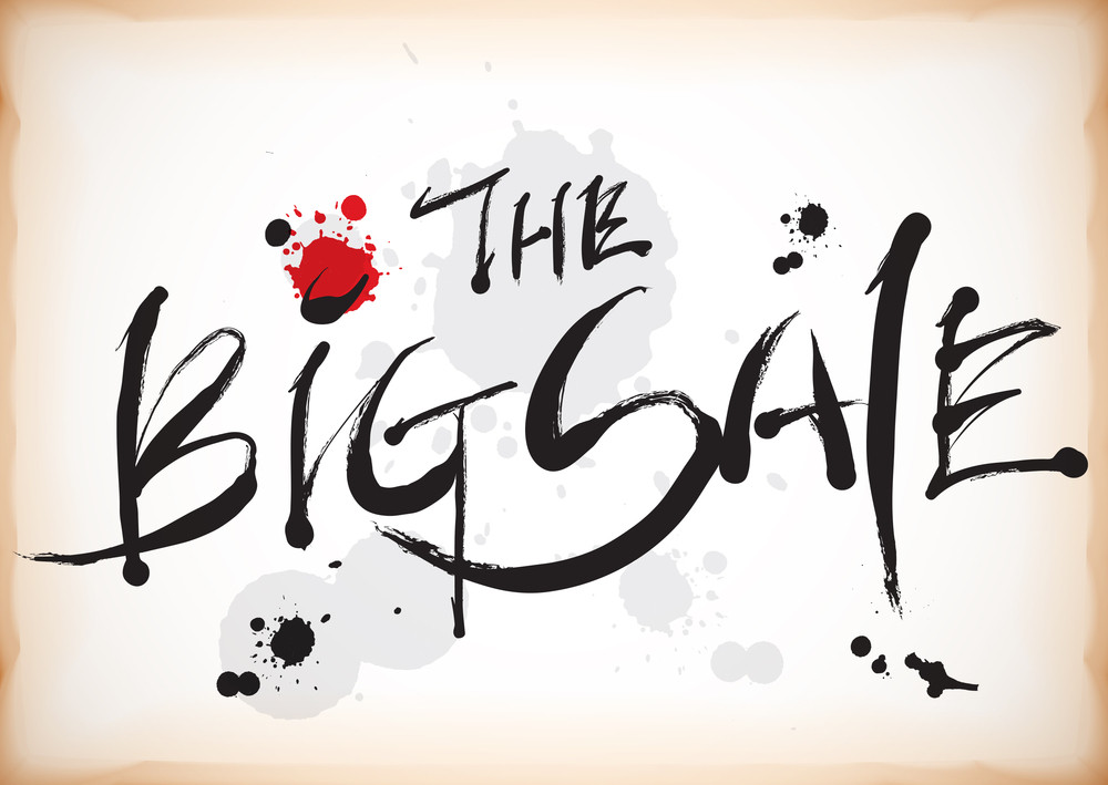 The Big Sale In Vector Calligraphy Style